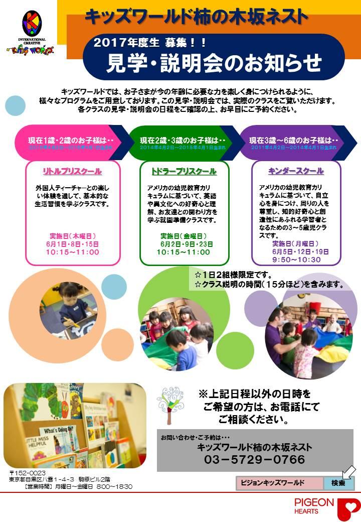 柿の木2017見学・説明会手配り5月